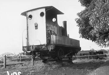 Image: Piha Tramway engine at Otahuhu workshops.