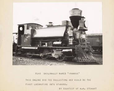 Image: The 'Ivanhoe', the first train into Otahuhu