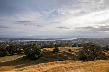 Image: View from Maungakiekie One Tree Hill looking south west, 2020