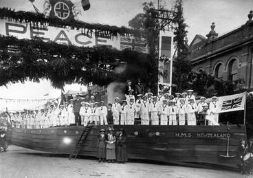 Image: Peace Celebration float in Queen Street