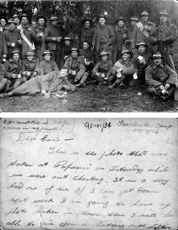 Image: Postcard from Featherston Camp