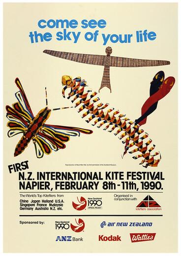 Image: 1990 New Zealand International Kite Festival