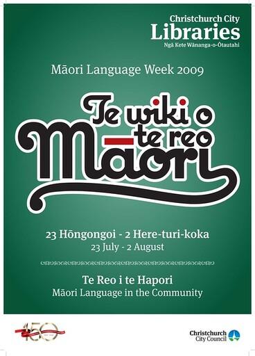 Image: 2009 Maori Language Week Poster