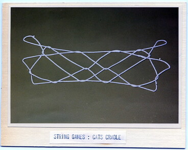 Image: Maori games and musical instruments: String game