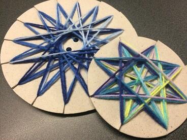Image: Matariki yarn stars