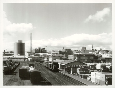 Image: New Plymouth Railway Station and Railyard