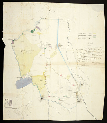 Image: Confiscated territory after the Maori Wars, in the Waikato, 1864