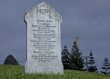 Image: New Plymouth, Dicky Barrett's Grave