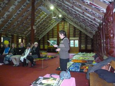Image: Story blanket display at Rehua