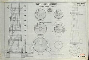 Image: Castle Point Lighthouse, 1911 plan