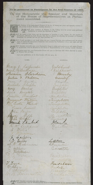 Image: Women's Suffrage Petition 1893
