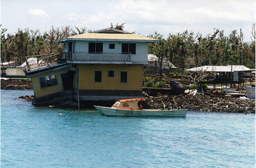 Image: WESTERN SAMOA: Damage to house from Cyclone Val