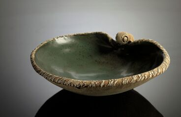 Image: Small green bowl. From group: The earth cooling. From the series: The magma flows, the magma cools on its way to the ocean
