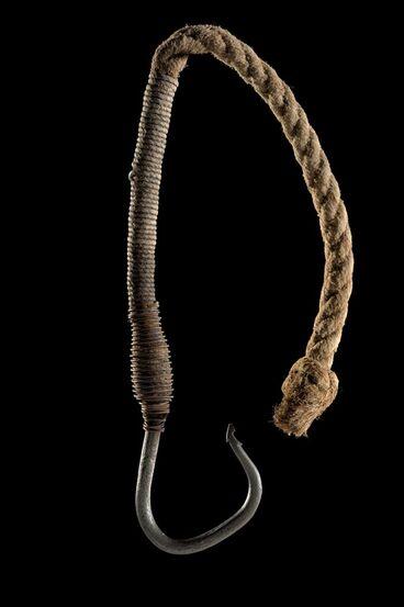 Image: Matau rino (iron fish hook)