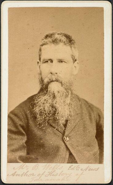 Image: Mr B. Wells, author of: History of Taranaki
