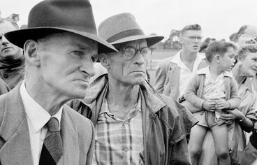 Image: Dairy farmers at the Kumeu A & P Show. Taken for 'New Zealand, gift of the sea' (1963)