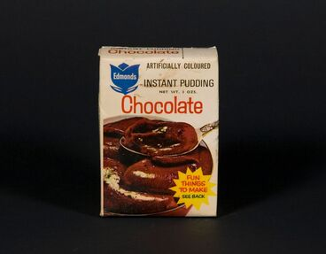 Image: Box of instant pudding - chocolate flavour