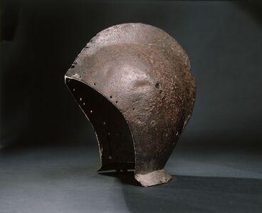 "Image: Iron helmet (known as the ""Spanish"" helmet)"
