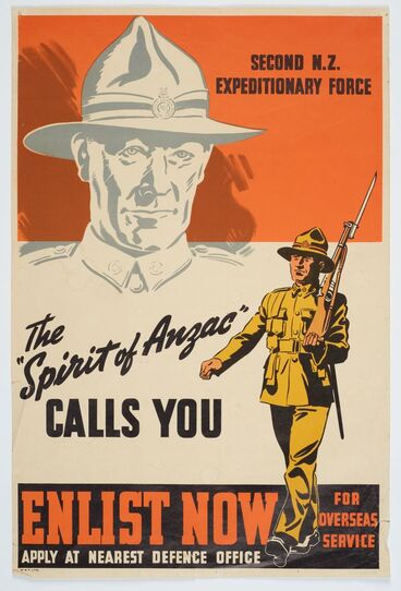 "Image: Poster, 'The ""Spirit of ANZAC"" Calls You'"