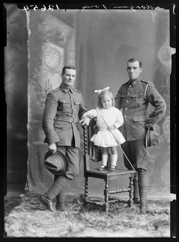 Image: Francis Harold Morgan, Edmund Guthrie Morgan and their niece, Joyce Vida Morgan