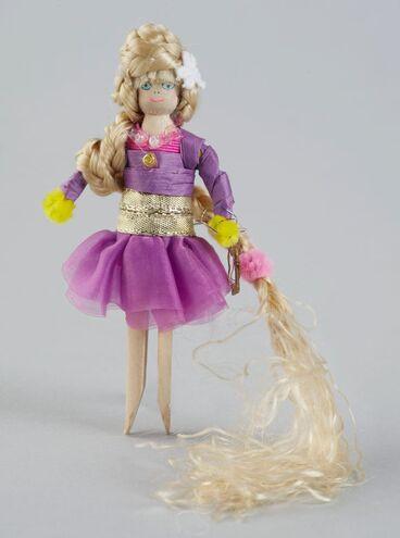 Image: Peg Doll, 'Rapunzel'