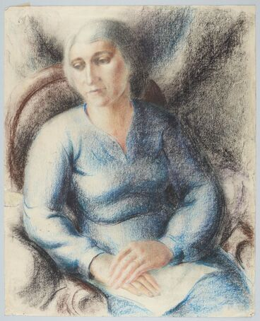 Image: Portrait of a sitting woman