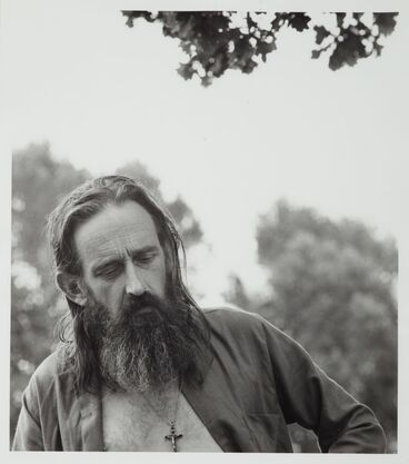 Image: James K Baxter at Horo Horo Students' Camp. From the series: Notes on the country I live in