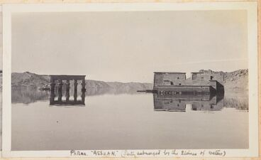 Image: Philae, Assuan (partly submerged by the storage of waters). From the album: Photograph album of Major J.M. Rose, 1st NZEF