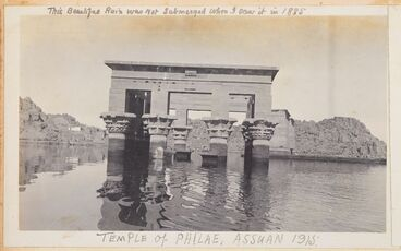Image: Temple of Philae, Assuan 1915. From the album: Photograph album of Major J.M. Rose, 1st NZEF