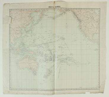 Image: Map showing voyages of the Polynesian Navigators