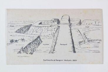 Image: Earthworks at Rangiriri, Waikato 1863