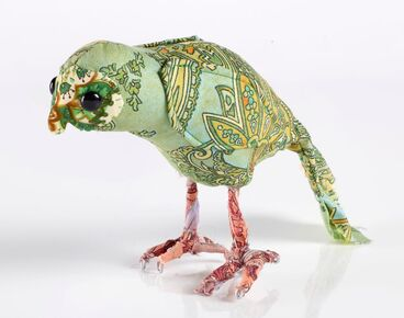 Image: 'Little Robbie' kakapo soft sculpture