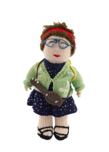 Image: 'Camp Leader' knitted doll