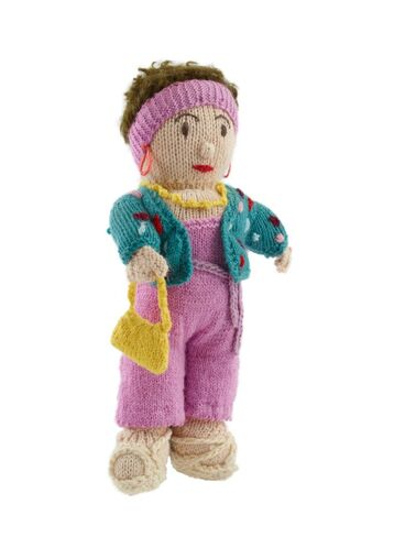 Image: 'Camp Mother' knitted doll