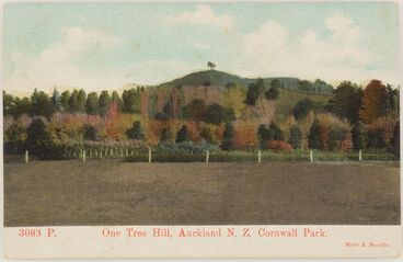 Image: One Tree Hill, Auckland, New Zealand, Cornwall Park