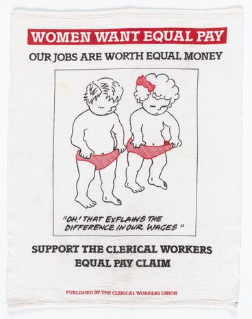 Image: Women Want Equal Pay teatowel