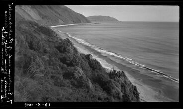 Image: Southern end of Paekakariki beach, from west of dunes at end of Amea Street