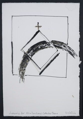 Image: Drawing from a set of 12 for Hone Tuwhare's book: Mihi; collected poems. (Penguin, 1987).