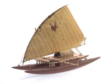 Image: Model Tongiaki (sailing canoe)