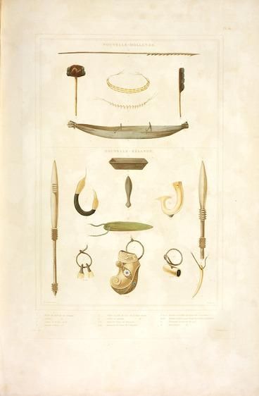 Image: Sainson, Louis Auguste de, b. 1801 :Nouvelle-Hollande. Nouvelle-Zelande. de Sainson pinx. Coupe sc. [Paris] V. Drouart. [1833].