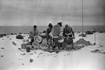 Image: Packing a sledge for a trip to 'Shackleton's', Antarctica