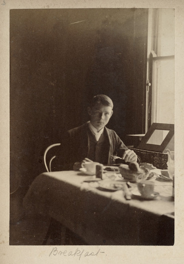 Image: Boy at a breakfast table