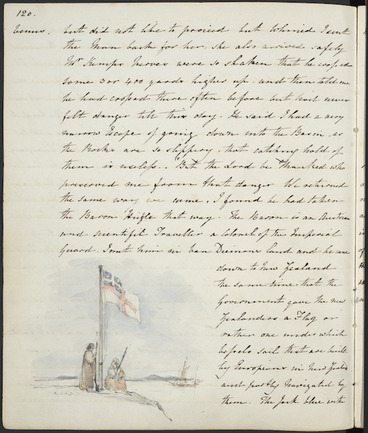 Image: The Government gave the New Zealanders a flag or rather one under which vessels sail... (United Tribes Ensign, Waitangi)