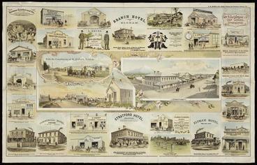 Image: F W Niven & Co. :Views of Eltham and Stratford N Z [ca 1893]. F W Niven & Co. [lith] Ballarat, [Vic[toria, ca 1893]