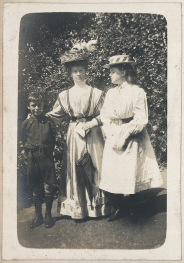 Image: Brian Derry with Annie Beauchamp and a cousin