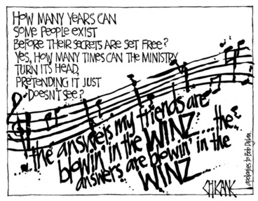 Image: Winter, Mark 1958- :'..the answers my friends are blowin' in the WINZ..' 17 October 2012