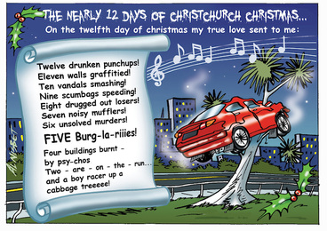 Image: The nearly 12 days of Christchurch Christmas. 24 December 2009