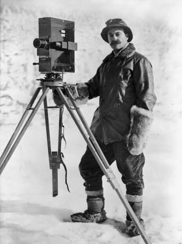 Image: Herbert George Ponting and cinematograph, Antarctica