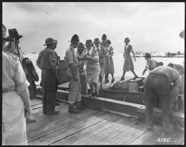 Image: New Zealand nurses arriving in Guadalcanal, Solomon Islands, during World War 2