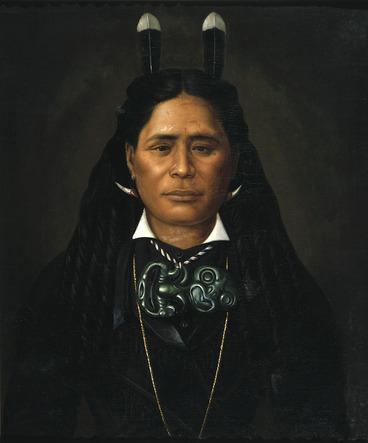 Image: Lindauer, Gottfried, 1839-1926 :Mrs Ngahui Rangitakaiwaho of Wairarapa. Dec 21st 1880.